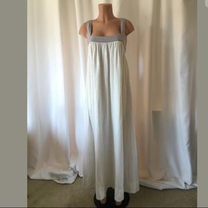Free People cotton a line maxi dress w back buckle